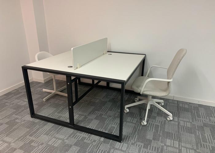 钢木组合办公桌 [智兴家具]